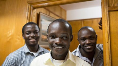 """Three developers from Kenya, Marvin Makau, Edwin Inganji and Kenneth Gachukia, have created a panic button app that sends a distress signal with the shake of a phone. The app, <a href=""""https://play.google.com/store/apps/details?id=com.usalamatechnology.application&hl=en_GB"""" target=""""_blank"""" target=""""_blank"""">Usalama</a>, works by connecting people with emergency service providers, and sends their exact location when they shake their phone three times. It also alerts a next of kin and every other Usalama users within 200 meters. They're looking to expand their technology beyond the continent and help make people safer."""