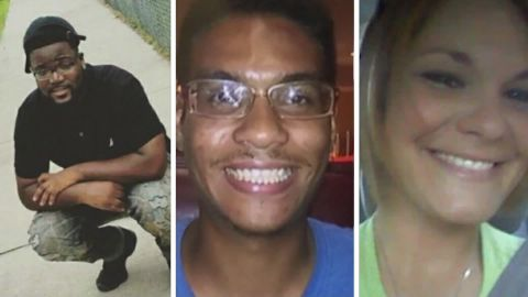From left, Benjamin Mitchell, Anthony Naiboa and Monica Hoffa were killed within 11 days in Tampa.