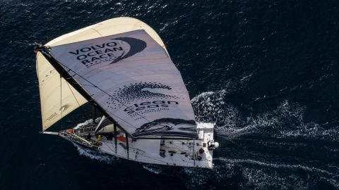 Caffari's team will monitor daily water quality and micro-plastic levels on their 45,000-nautical-mile trip around the world.