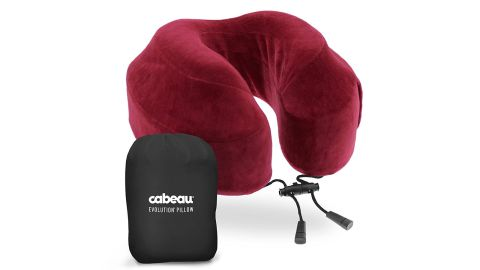 """<strong>Cabeau Evolution Travel Pillow ($39.99; </strong><a href=""""https://amzn.to/2HqzDxN"""" target=""""_blank"""" target=""""_blank""""><strong>amazon.com</strong></a><strong>)</strong>"""