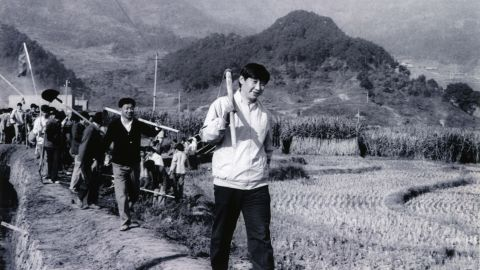 Xi, as the Communist Party secretary of Ningde, China, participates in farm work in 1988.