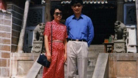 Xi and his new wife, folk singer Peng Liyuan, pose for a photo on China's Dongshan Island in 1987.