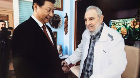 Xi visits Cuban leader Fidel Castro in Havana, Cuba, in 2014.