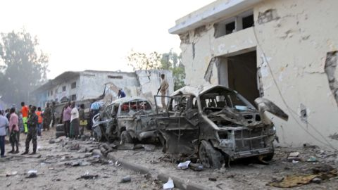 A car bomb attack in Mogadishu, Somalia, on Saturday left at least 10 dead, police said.