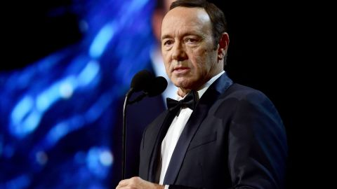 BEVERLY HILLS, CA - OCTOBER 27:  Kevin Spacey speaks onstage at the 2017 AMD British Academy Britannia Awards Presented by American Airlines And Jaguar Land Rover at The Beverly Hilton Hotel on October 27, 2017 in Beverly Hills, California.  (Photo by Frazer Harrison/BAFTA LA/Getty Images for BAFTA LA)