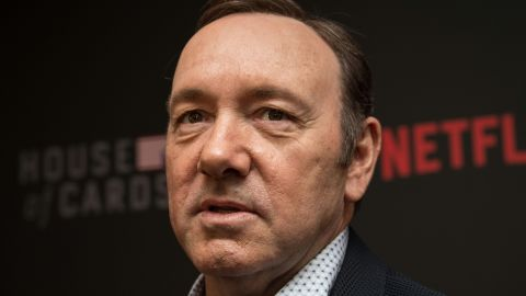 """Actor Kevin Spacey arrives at the season 4 premiere screening of the Netflix show """"House of Cards"""" in Washington, DC, on February 22, 2016. / AFP / Nicholas Kamm        (Photo credit should read NICHOLAS KAMM/AFP/Getty Images)"""
