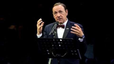 Spacey gave a speech at The Old Vic during a gala celebration in 2015.