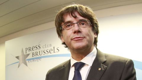 Deposed Catalan President Carles Puigdemont in Brussels on Tuesday.