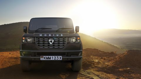"""'Made in Africa' cars are on the rise. Mobius Motors, pictured above, are a Kenyan based car company who are releasing the second model of their stripped-down, cost-effective but luxury SUV built for rough terrains. They aim to sell the car to the African mass market, and anywhere else in the world with poor quality roads. <br /><br /><a href=""""http://edition.cnn.com/2017/11/14/africa/mobius-made-in-africa-kenya-suv/index.html"""">Read more</a> about Africa's car industries."""