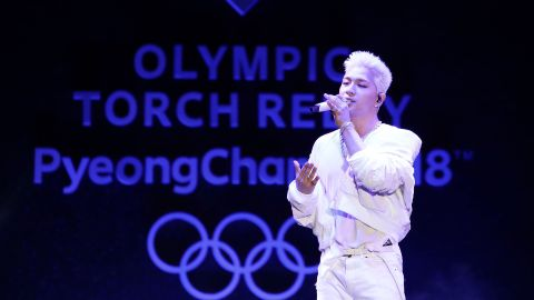 """A ceremony to mark the flame's arrival featured K-pop sensation Taeyang, an <a href=""""http://edition.cnn.com/2017/06/21/sport/big-bang-taeyang-south-korea-pyeongchang-winter-olympics/index.html"""">honorary ambassador f</a>or next year's Winter Games."""