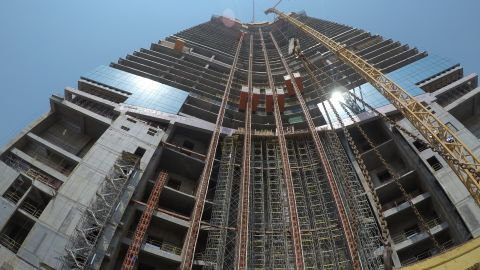 The tower is currently at floor 61 -- standing 245.5 meters tall.It is now the highest structure in Jeddah, and currently taller than the Statue of Liberty by 155 meters, but still 60 meters shorter than the Eiffel Tower.<br />