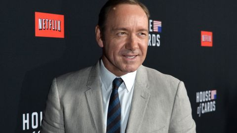 """LOS ANGELES, CA - FEBRUARY 13:  Executive producer/actor Kevin Spacey arrives at the special screening of Netflix's """"House of Cards"""" Season 2 at the Directors Guild Of America on February 13, 2014 in Los Angeles, California.  (Photo by Kevin Winter/Getty Images)"""