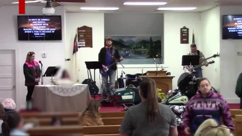 This image is from a video of the church's October 29 service -- a week before the shooting.