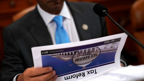 WASHINGTON, DC - NOVEMBER 06:  House Ways and Means Committee member Rep. Carlos Curbelo (R-FL) prepares for a markup hearing of the proposed GOP tax reform legislation in the Longworth House Office Building on Capitol Hill November 6, 2017 in Washington, DC. (Chip Somodevilla/Getty Images)