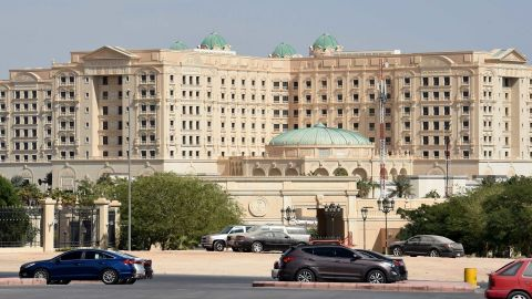 A picture taken on November 5 of the closed Ritz Carlton hotel in Riyadh.