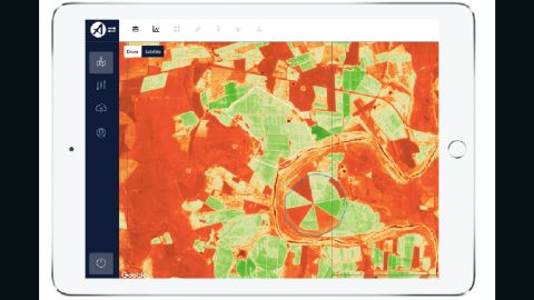 """The South Africa based <a href=""""https://aerobotics.co/"""" target=""""_blank"""" target=""""_blank"""">drone software company</a> aims to help farmers optimize their output using artificial intelligence. They have created a data-analytics platform, Aeroview, which combines satellite, drone and artificial intelligence technology to improve agricultural practices."""