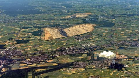 An aerial view of the lignite mine on the edge of Hambach Forest (file photo).