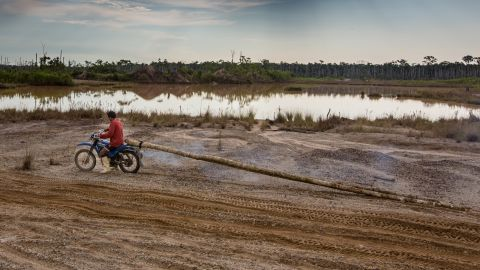 A glimpse of the destruction caused by illegal gold mining in the Peruvian Amazon.