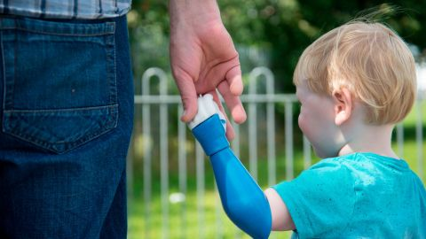 After his son's left arm was amputated days after his birth, Ben Ryan designed, 3D-printed and built him a new one.