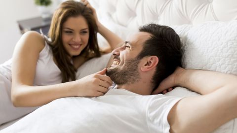Young loving couple in the bed; Shutterstock ID 391871194; Job: -