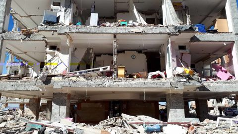 IRNA has published more photos showing the destruction the earthquake wrought on Sarpol-e Zahab, Iran.