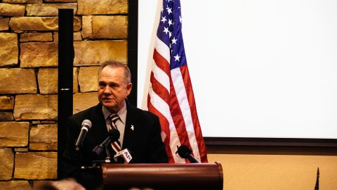 VESTAVIA HILLS, AL - NOVEMBER 11:  Republican candidate for U.S. Senate Judge Roy Moore speaks during a mid-Alabama Republican Club's Veterans Day event on November 11, 2017 in Vestavia Hills, Alabama. This week Moore's campaign was brought under scrutiny, after being accused of sexual misconduct with underage girls when he was in his 30's. (Photo by Wes Frazer/Getty Images)