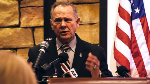 VESTAVIA HILLS, AL - NOVEMBER 11:  Republican candidate for US Senate Judge Roy Moore speaks during a mid-Alabama Republican Club's Veterans Day event on November 11, 2017, in Vestavia Hills, Alabama. Last week Moore's campaign came under scrutiny after he was accused of sexual abu girls when he was in his 30's. (Photo by Wes Frazer/Getty Images)
