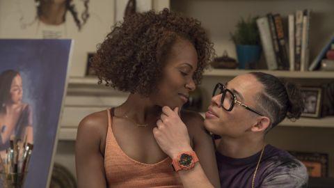 DeWanda Wise, Anthony Ramos in 'She's Gotta Have It'