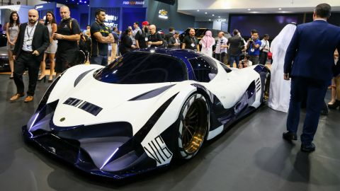 """A new-look concept of the Devel Sixteen is unveiled on the first day of the Dubai International Motor Show 2017. The motor company aims to hit 300mph with the vehicle when it begins testing. <br /><br />So how did the motor industry get here? The term """"production car"""" is not well defined, but here are a few of the fastest production cars in the supercar era, and contenders for the 300mph crown."""