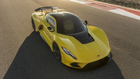 The Venom F5, made in Texas by US speed specialists Hennessey, has its hat in the ring for 300mph. With 1,600bhp under the hood, the successor to the 270.5mph Venom GT has some serious muscle, although it hasn't received a top speed test yet. One of 24 produced can be yours for $1.6m.