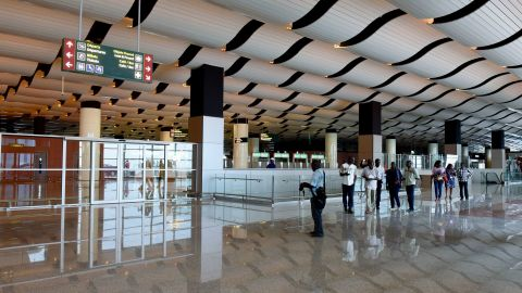 The terminal is 42,000 square meters consisting of two tiers and a mezzanine level.