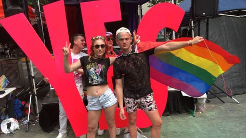 Celebrations in Melbourne after Australia voted in favor of same-sex marriage