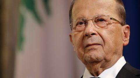 Michel Aoun (pictured) will not accept Hariri's resignation until he returns to Lebanon.