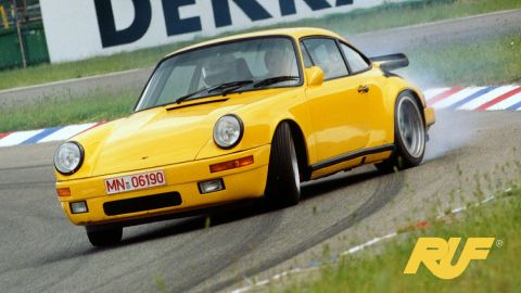 """The classic Porsche bodywork hid some serious engineering nous from Alois Ruf's team. Known affectionately as the """"Yellow Bird,"""" the Ruf CTR twin turbo hit a then-staggering 212.5mph when tested at the Nardo Ring, Italy in 1987. Three decades later, Ruf has brought the CTR back with a <a href=""""http://ruf-automobile.de/en/modell/6100/"""" target=""""_blank"""" target=""""_blank"""">223mph top speed</a> and a look that says """"if it ain't broke, don't fix it."""""""