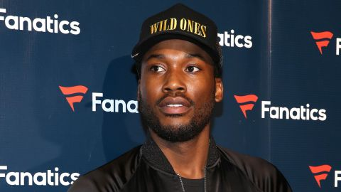 HOUSTON, TX - FEBRUARY 04:  Rapper Meek Mill arrives for the Fanatics Super Bowl Party at Ballroom at Bayou Place on February 4, 2017 in Houston, Texas.  (Photo by Robin Marchant/Getty Images for Fanatics)