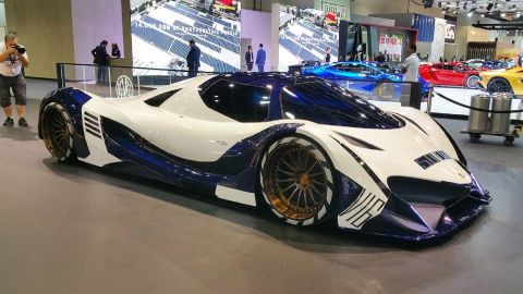 A production version of the Devel Sixteen concept on show in Dubai this week.