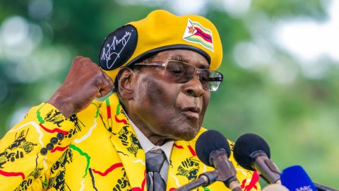 Then-President Robert Mugabe addresses party members in November shortly before his ouster.