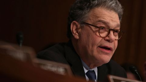 WASHINGTON, DC - JANUARY 18:  U.S. Sen. Al Franken (D-MN) speaks during a confirmation hearing of Health and Human Services Secretary Nominee Rep. Tom Price (R-GA) January 17, 2017 on Capitol Hill in Washington, DC. Price, a leading critic of the Affordable Care Act, is expected to face questions about his healthcare stock purchases before introducing legislation that would benefit the companies.  (Photo by Alex Wong/Getty Images)