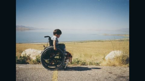 As a child, Aaron never let spina bifida slow him down.