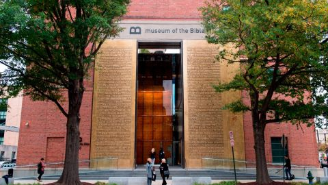 The new Museum of the Bible, a 430,000 square-foot museum, dedicated to the history, narrative and impact of the Bible.