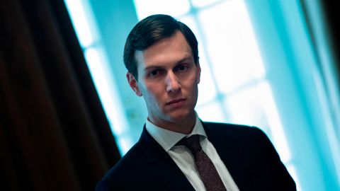 Senior Advisor Jared Kushner waits for a meeting with Prime Minister of Malaysia Najib Razak, US President Donald Trump and others in the Cabinet Room of the White House September 12, 2017 in Washington, DC. / AFP PHOTO / Brendan Smialowski        (Photo credit should read BRENDAN SMIALOWSKI/AFP/Getty Images)