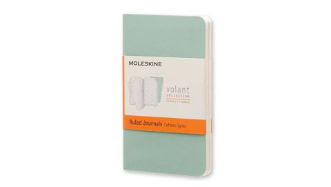 """<strong>M: Moleskine Volant X-Small Ruled Notebook ($5.95; </strong><a href=""""http://www.anrdoezrs.net/links/8314883/type/dlg/sid/1217azgiftguide/https://www.barnesandnoble.com/w/home-gift-moleskine-volant-xsmall-ruled-sage-green-seaweed-green-2-pack-25-x-425/29079164?ean=8051272890341"""" target=""""_blank"""" target=""""_blank""""><strong>barnesandnoble.com</strong></a><strong>) </strong>"""