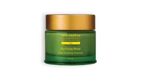 """<strong>T: Tata Harper Purifying Mask ($65; </strong><a href=""""https://www.sephora.com/product/purifying-mask-P408301?skuId=1821511&icid2=tata_harper_lp_instant_glow_carousel_us:p408301"""" target=""""_blank"""" target=""""_blank""""><strong>sephora.com</strong></a><strong>) </strong>"""
