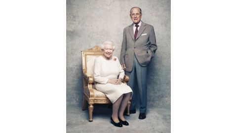 The portraits were taken in the White Drawing Room at Windsor Castle in early November.