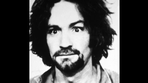 This 1969 mugshot shows Manson soon after the murder of actress Sharon Tate.