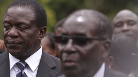 Emmerson Mnangagwa, left, served beside Robert Mugabe, right, throughout the leader's entire political career.