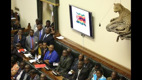 Lawmakers meet inside Parliament on November 21.