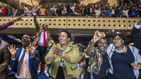 """Members of Zimbabwe's Parliament celebrate after the resignation of longtime President Robert Mugabe was announced on Tuesday, November 21. Mugabe, 93, had led the country for nearly four decades. <a href=""""http://www.cnn.com/2017/11/21/africa/robert-mugabe-resigns-zimbabwe-president/index.html"""" target=""""_blank"""">His resignation</a> comes six days after military leaders seized control of the nation and placed him under house arrest."""