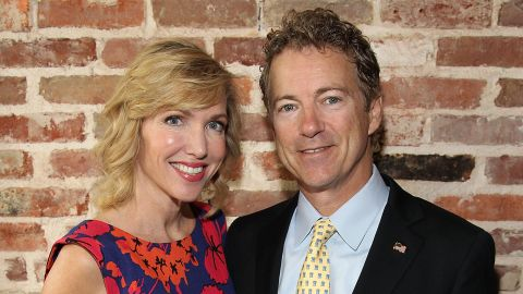"""WASHINGTON, DC - APRIL 29:  Author Kelley Paul and her husband Sen. Rand Paul (R-KY) attend Capitol File's book release party for Kelley Paul's """"True and Constant Friends"""" on April 29, 2015 at ENO Wine Bar in Washington, DC.  (Photo by Paul Morigi/Getty Images for Capitol File Magazine)"""