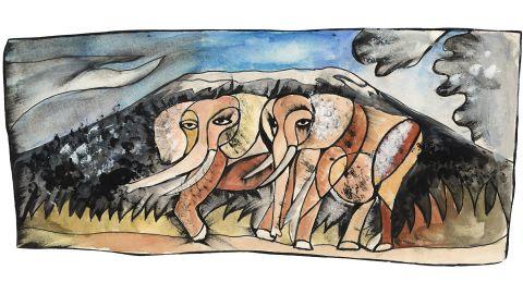 """""""Elephants,"""" by Dan Eldon"""